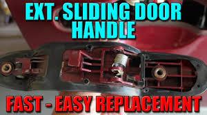 How To Replace Exterior Door by How To Fix Minivan Door Handle Youtube