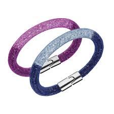 blue crystal bracelet swarovski images Swarovski stardust pink blue crystal bracelet set john greed jpg