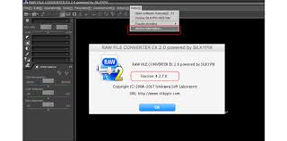 converter raw raw file converter ex 2 0 powered by silkypix ver 4 2 7 0