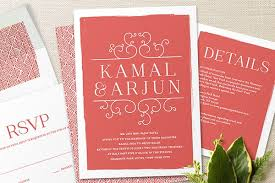 Marriage Invitation Card Design Modern Indian Wedding Invitations Modern Indian Wedding