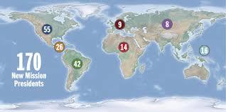 Lds Temples Map 2016 Lds Mission Presidents Deseret News