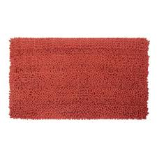 Laura Ashley Bathroom Furniture by Laura Ashley Astor Striped Chenille Coral 20 In X 34 In Plush