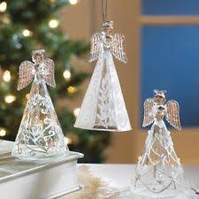 Glass Angels Christmas Decorations by Unbranded Glass Angel Christmas Ornaments Ebay