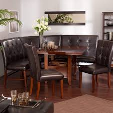 adorable dining room modern tufted leather bench set seating