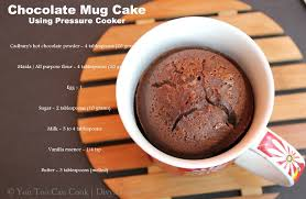 chocolate mug cake using pressure cooker christmas desserts