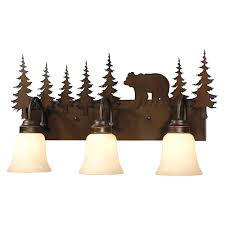 rustic vanity lighting u0026 cabin bathroom lights