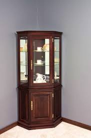curio cabinet endearing diy corner hutch living room estate