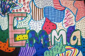 pattern art name kindergarten art with mrs brown