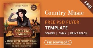 template flyer country free free country music night flyer psd template designyep