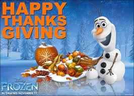 happy thanksgiving from frozen plus our thoughts on the