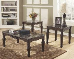 Ashley Outdoor Furniture North Shore Dark Brown T533 Cocktail Tables And 2 End Tables