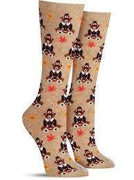 thanksgiving socks pilgrim bears thanksgiving socks for women