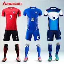 Custom Flag Football Jerseys Kawasaki Brand 5pcs Lot Custom Fans Soccer Set Jersey Mens Top