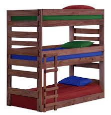 three bunk beds pine crafter american made quality furniture bunk beds