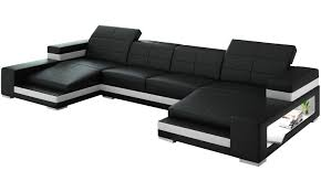 Leather Chaise Couch Aubrey Double Chaise Sectional Sofa From Opulent Items Ihso03166