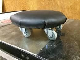 rolling shop stool black widow adjustable rolling garage and shop
