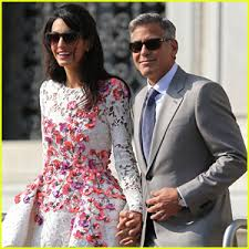 george clooney wedding george clooney amal alamuddin post wedding photos amal