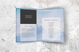 Funeral Programs Order Of Service Funeral Program Template With White Dove Freedom In Heaven