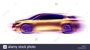 lexus sport hybrid concept artistic photo of a moving gold shiny lexus lf ch hybrid concept