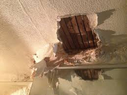 Ceiling Water Damage Repair by What A House Looks Like After Many Years Of A Leaking Roof