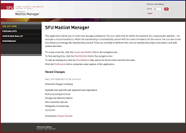 maillist user guide it services simon fraser university