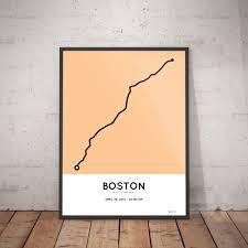 Map Of Boston Marathon Course by 2015 Boston Marathon Print U2013 Sportymaps