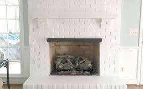 painting our brick fireplace white brick fireplace bricks and