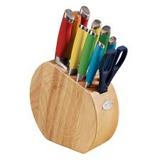 multicolored 11 pc cutlery set