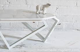 Marble Coffee Table Homemade Modern Ep61 Geometric Marble Coffee Table