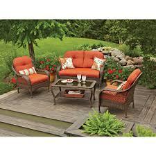 4 piece patio furniture sets winnfield 5 piece patio conversation set with fire pit seats 4
