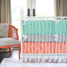 Navy And Coral Baby Bedding Gray Baby Crib Sets Damask Grey And Blue Baby And Kids Bedding