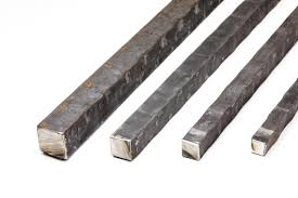 hammered square bar on the flat 20 ft length price varies