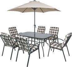 Barcelona Outdoor Furniture by 6 Seater Outdoor Garden Furniture Table Chairs U0026 Parasol Dining