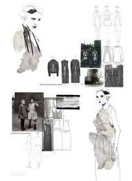 fashion sketchbooks moodboard for work in progress design