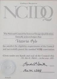 Certificate Of Interior Design by Victoria Pyle Interior Design