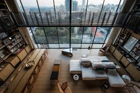 Celing Window Penthouse Apartment With An Interesting Layout In Beirut Lebanon