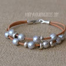 pearls bracelet diy images Diy leather bracelet pearl pewter layers happy hour projects jpg
