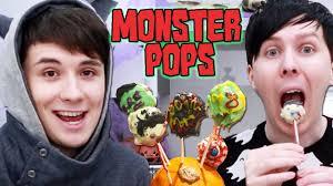 halloween baking monster pops youtube