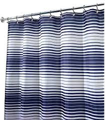 amazon com caro home fabric shower curtain wide navy blue white
