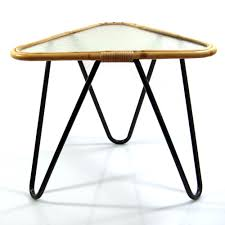 50s Design Dirk Van Sliedrecht Vintage 50s Design Triangular Glass Table