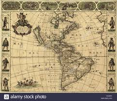 Map Americas by 17th Century Map Of The Americas Published In Amsterdam In 1660