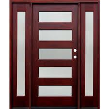 Shaker Style Exterior Doors by Single Door With Sidelites Wood Doors Front Doors The Home Depot