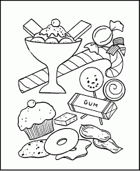 sweet candy coloring pages coloring pages