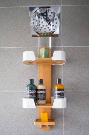 umbra decker shower caddy used to organize products in a small