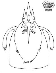 adventure ice king angry coloring pages adventure