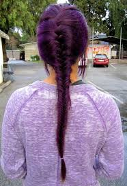 deep velvet violet hair dye african america purple french fishtail braid for long hair hairstyles weekly