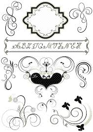 frames and calligraphic ornaments for feel of pages stock vector