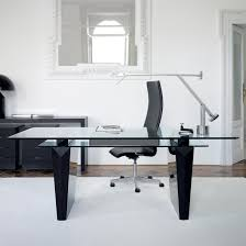 Desk For Home Office by Modern Glass Desks For Home Office The Modern Linear Shape Of This