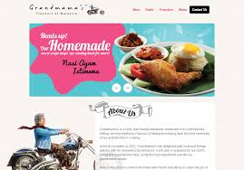 grandmamas restaurant website web design malaysia freelance