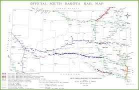 map south dakota south dakota rail map